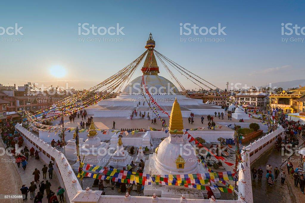 Boudhanath stupa Kathmandu ,Nepal stock photo