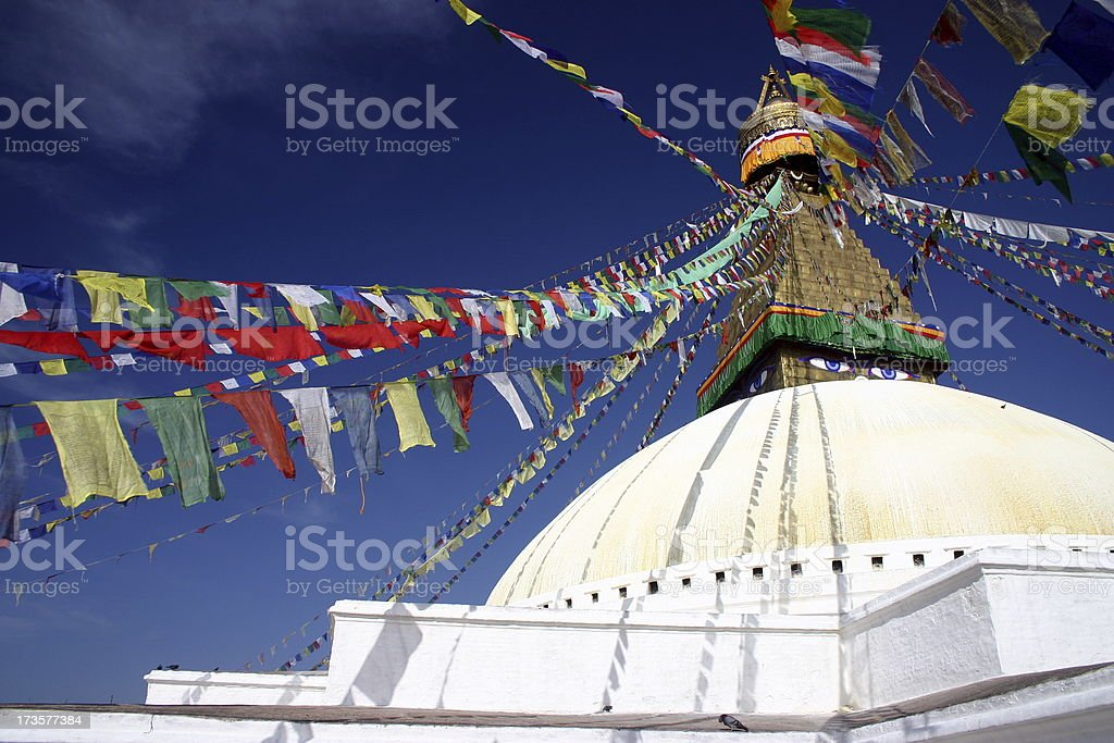 Boudhanath Stupa, Kathmandu royalty-free stock photo