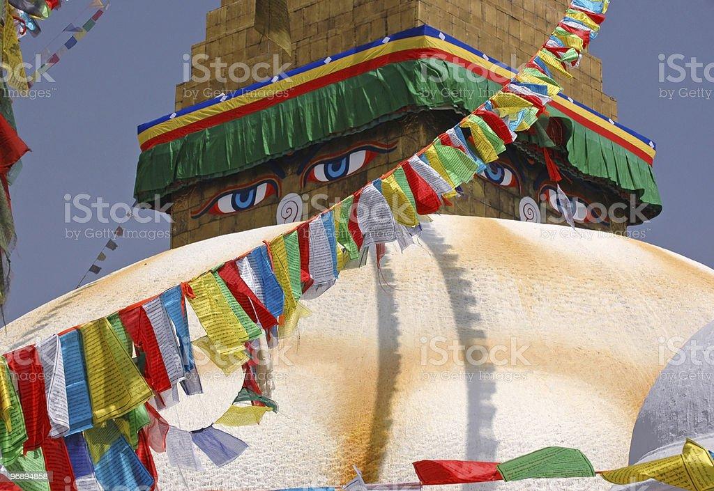 Boudhanath stupa, Kathmandu royalty-free stock photo
