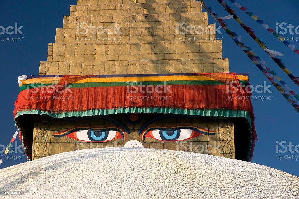 Boudhanath Stupa  Kathmandu,Nepal royalty-free stock photo