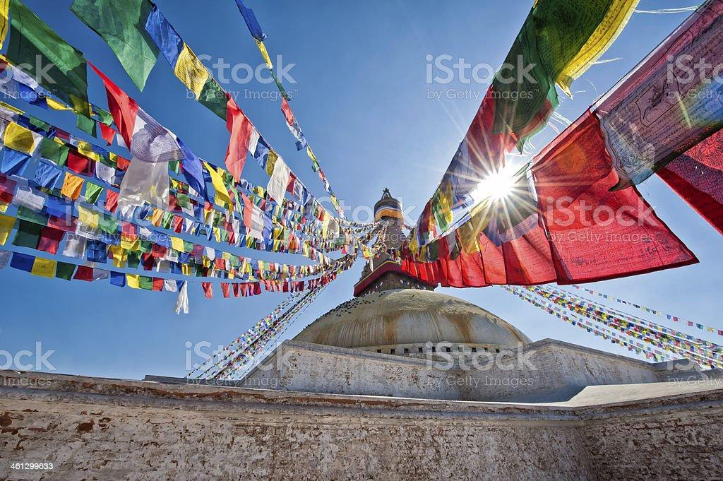 Boudhanath Stupa stock photo