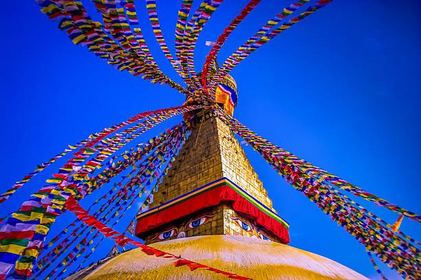 boudhanath stupa, kathmandu! - nepal tibet stock-fotos und bilder