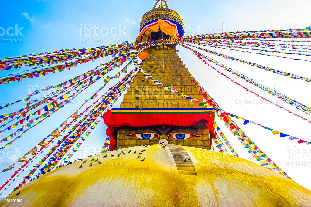 Boudhanath Stupa,Kathmandu,Nepal stock photo