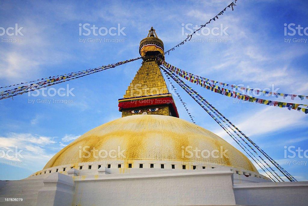 Boudhanath Supa in Kathmandu, Nepal stock photo