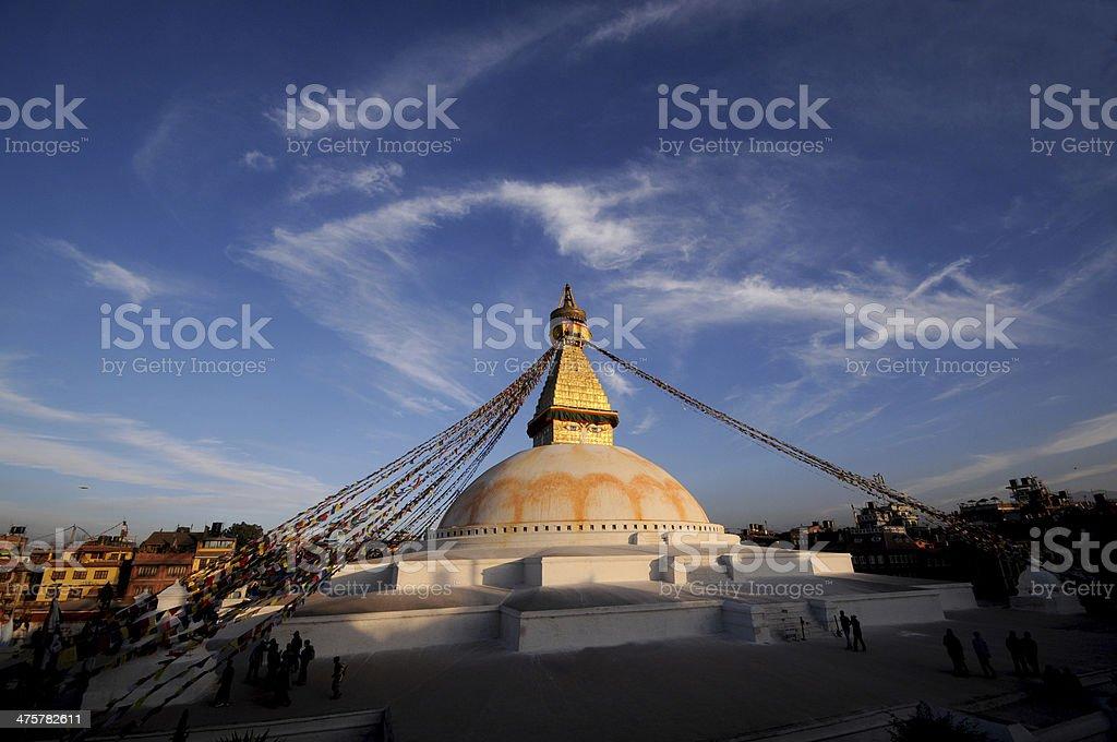 Boudhanath,Buddha Stupa,A World Heritage Site, Kathmandu, Nepal stock photo