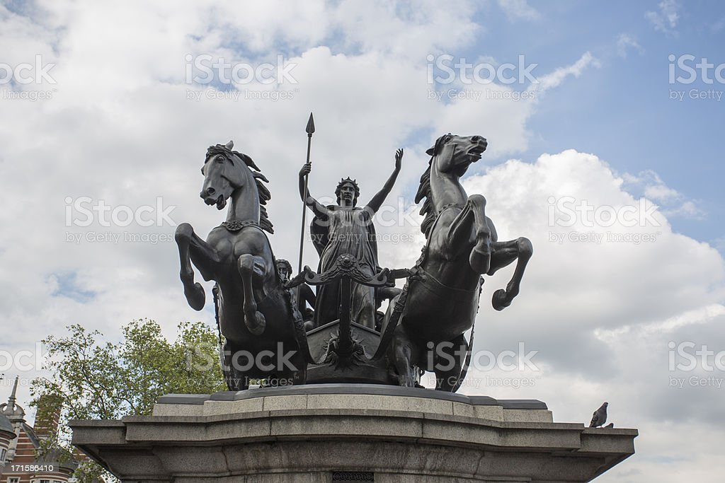 Boudica Statue, Westminster Bridge royalty-free stock photo