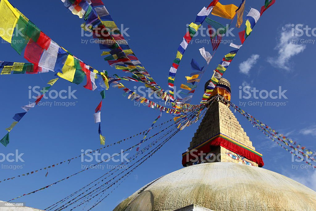 Boudnath in Kathmandu stock photo