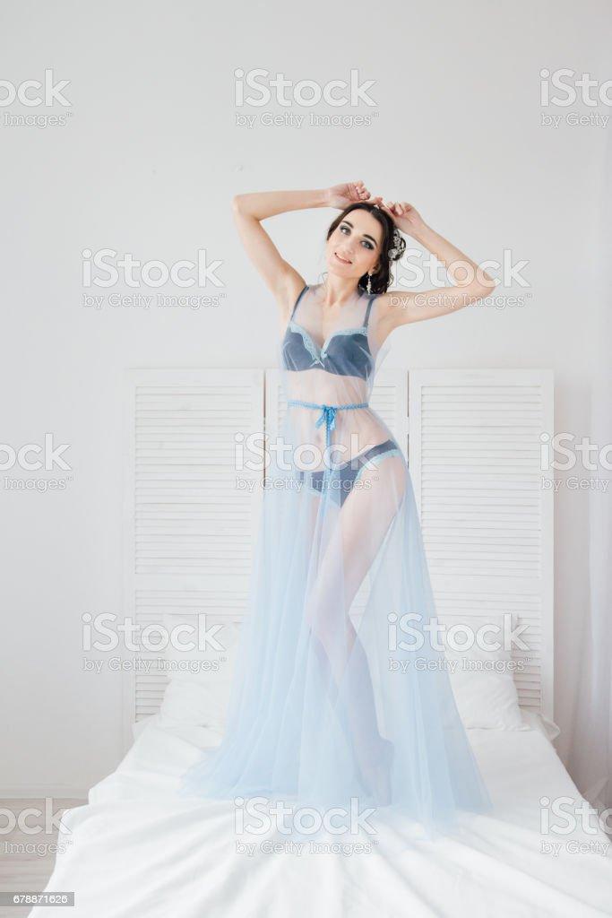 Boudoir bride's morning photo libre de droits