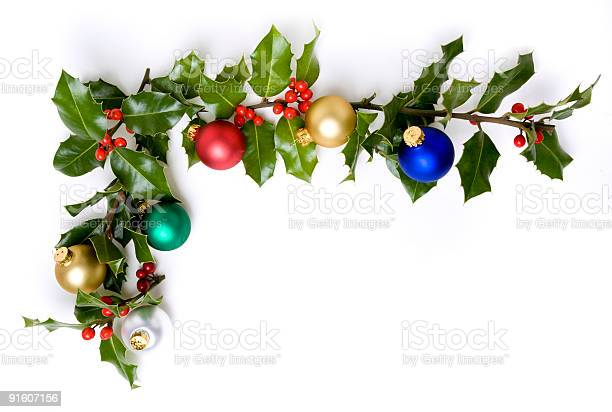 Photo of Boughs of Holly and Ornaments