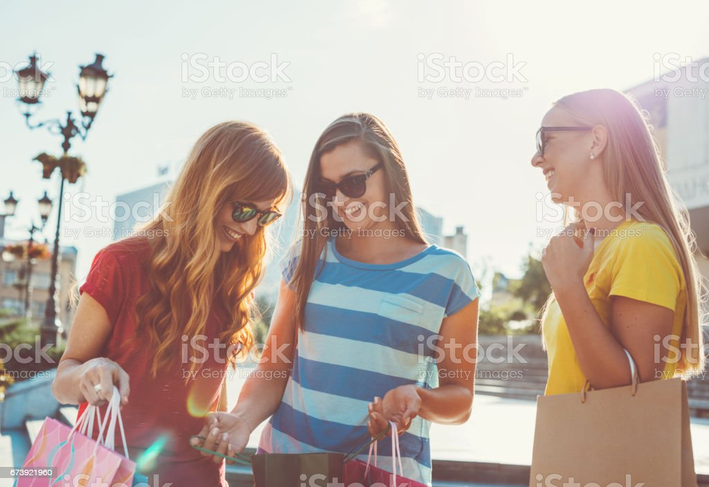 I bought nice clothing on today's sale in my favorite shop foto de stock royalty-free
