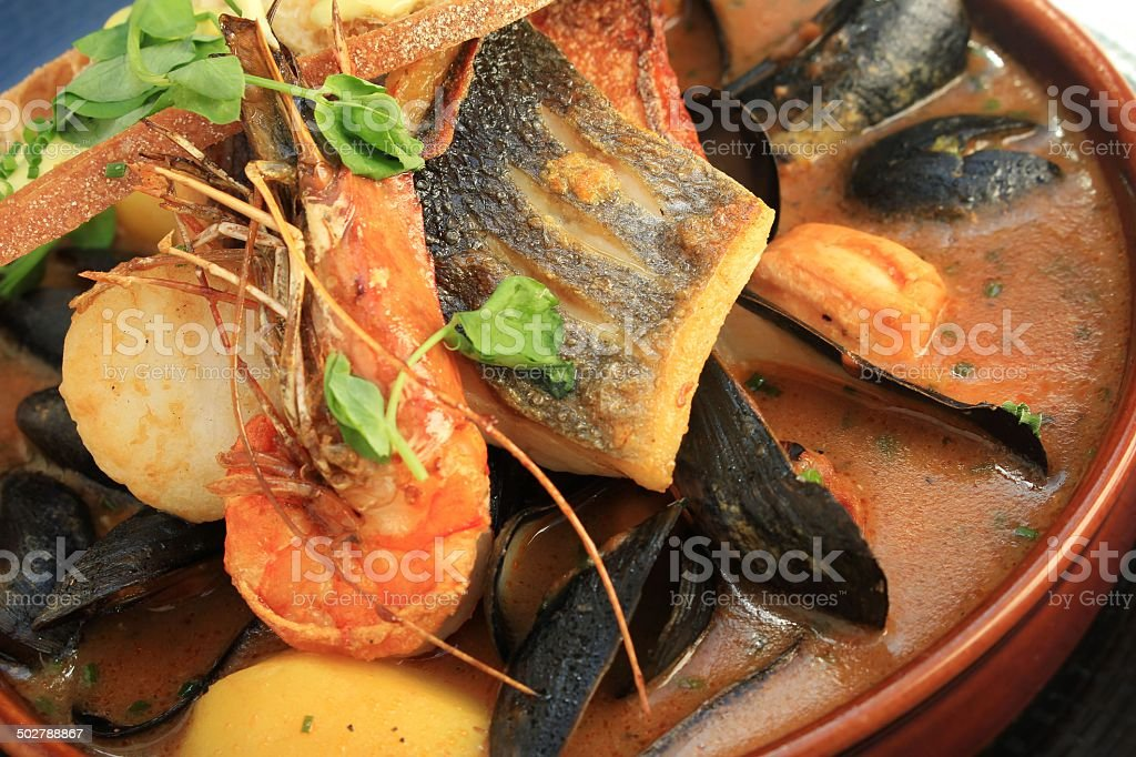 Bouillabaisse Fish stock photo