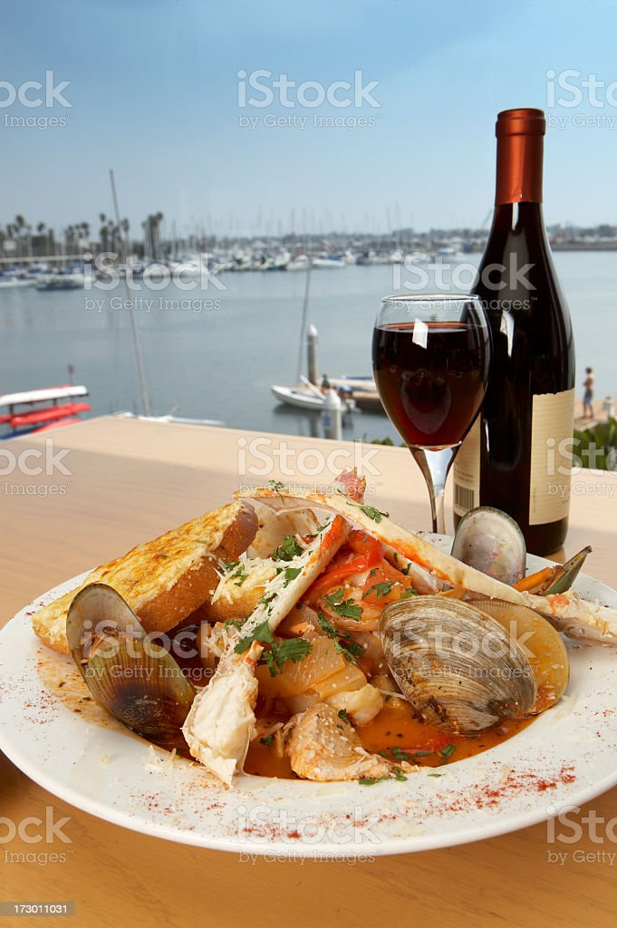 bouillabaisse with a view stock photo