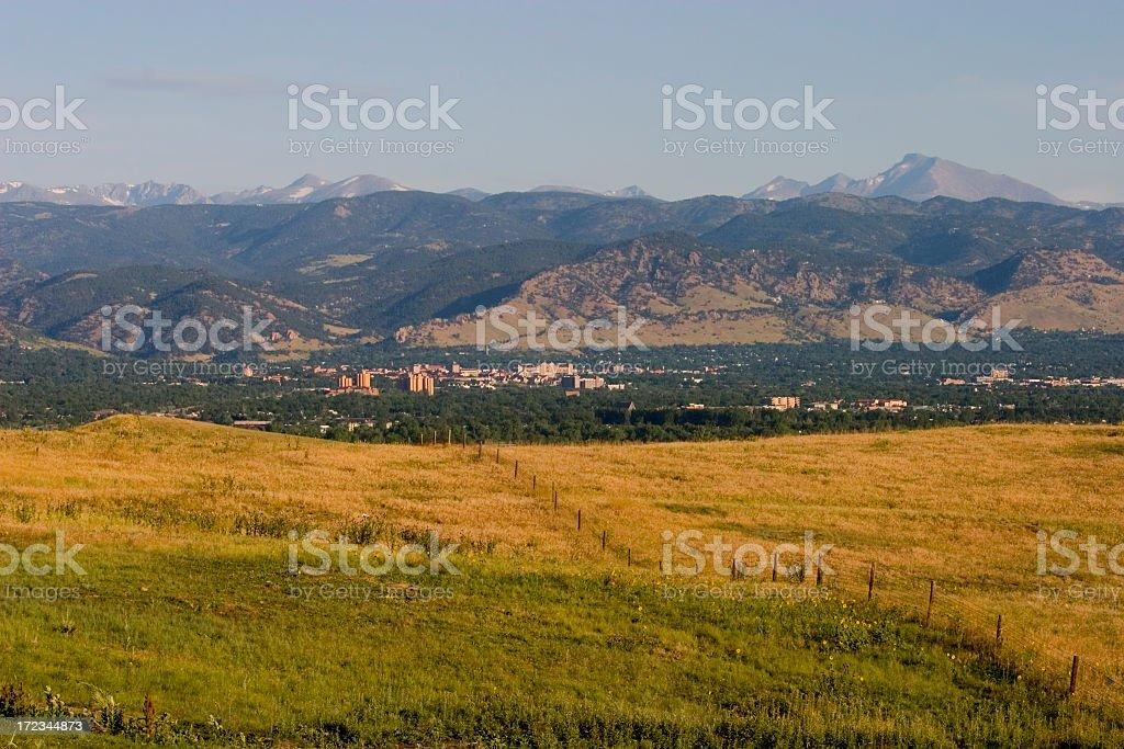 Boulder and Longs Peak royalty-free stock photo