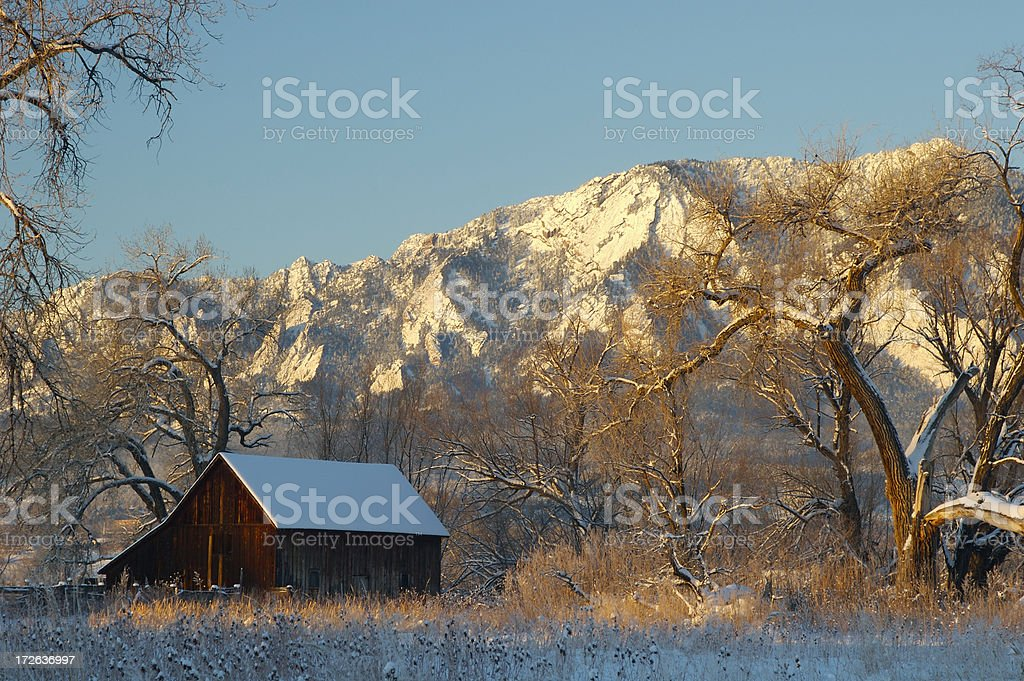 Boulder Barn stock photo