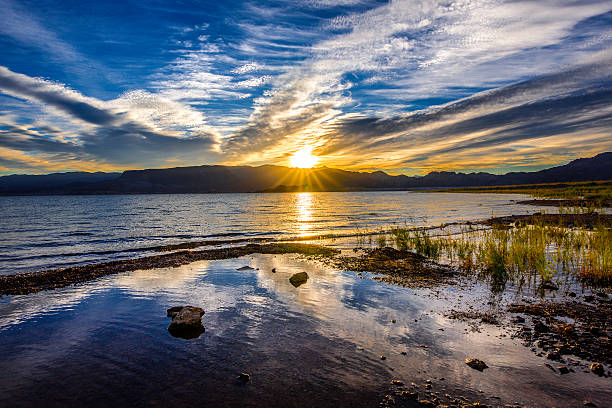 boulder beach sunrise - clark county nevada stock pictures, royalty-free photos & images