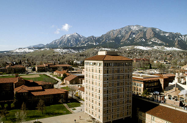 CU Boulder Campus stock photo