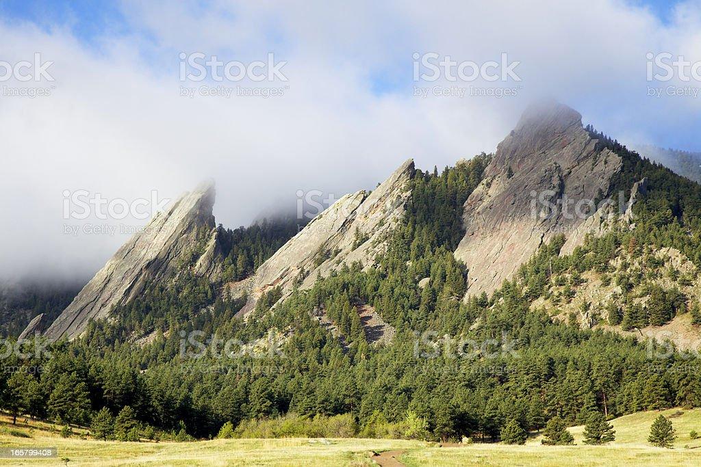 Boulder Colorado Flatirons royalty-free stock photo