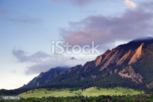 istock Boulder Colorado Flatirons 165799419