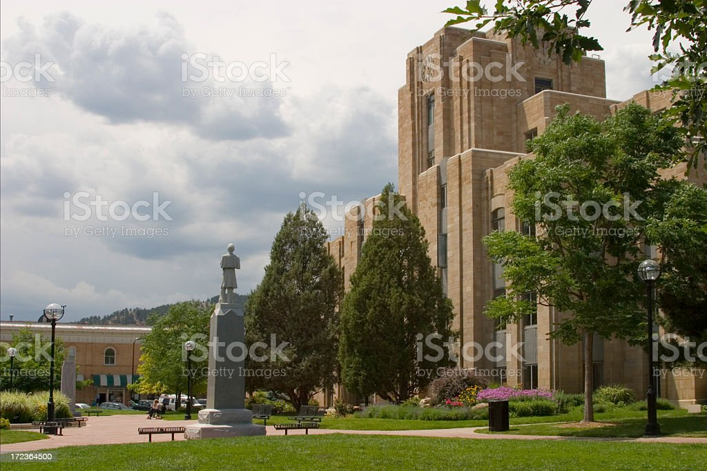 Boulder Courthouse royalty-free stock photo