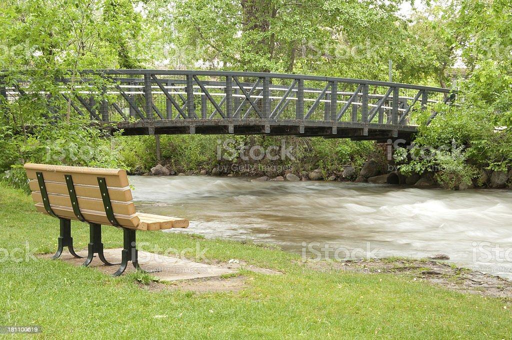 Boulder Creek Bridge stock photo