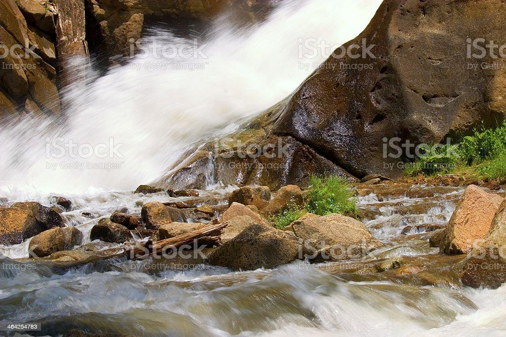 Boulder Falls royalty-free stock photo