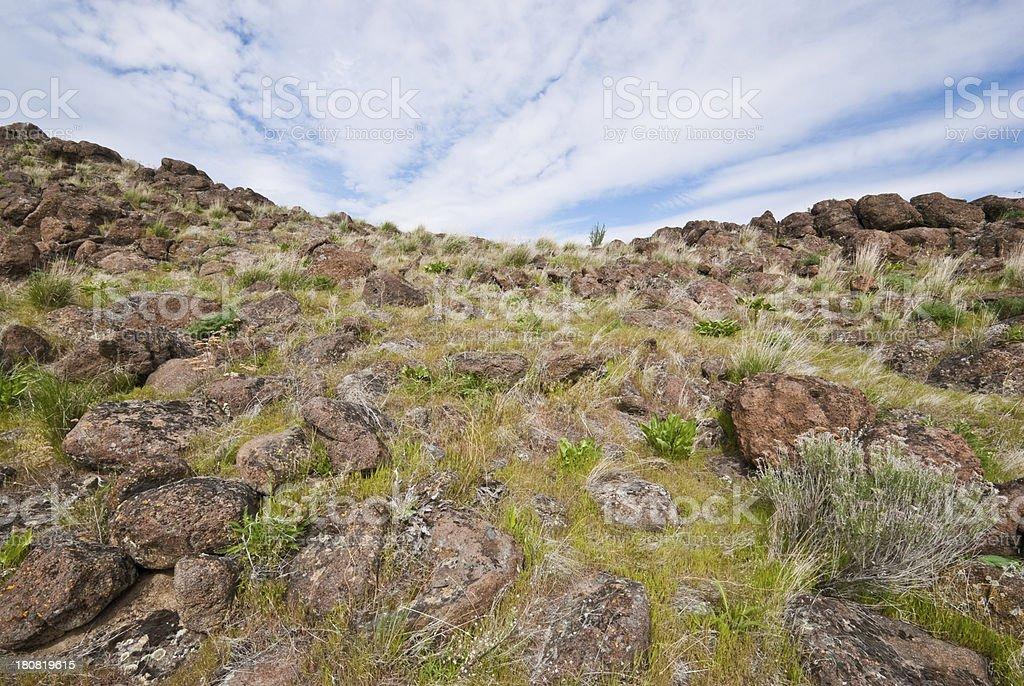 Boulder Field on Cowiche Ridge royalty-free stock photo