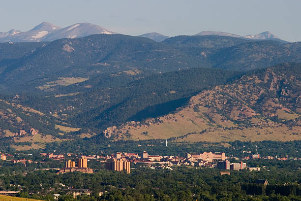 Boulder in the Morning stock photo