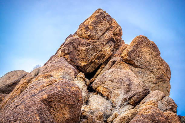 boulder of rocks in joshua tree national park - boulder rock stock pictures, royalty-free photos & images