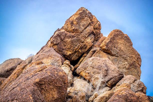 Boulder of rocks in Joshua Tree National Park stock photo