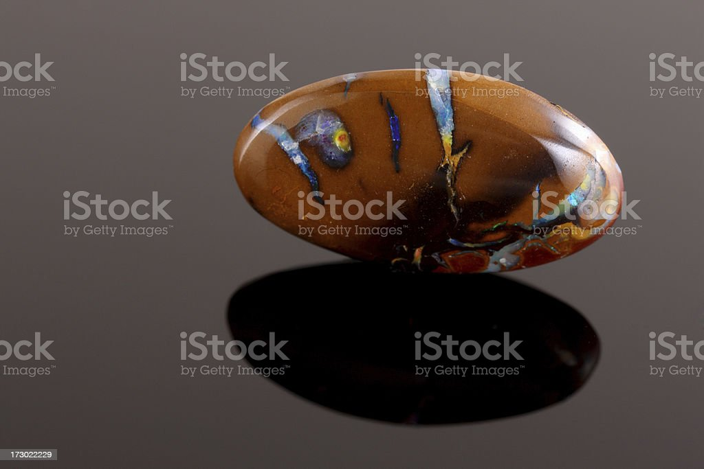 Boulder Opal royalty-free stock photo