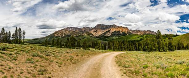 Boulder Peak Idaho stock photo