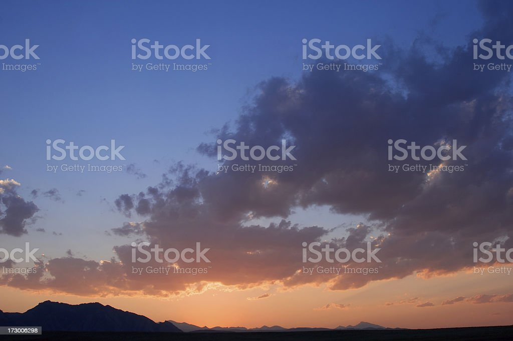 Boulder Sunset royalty-free stock photo