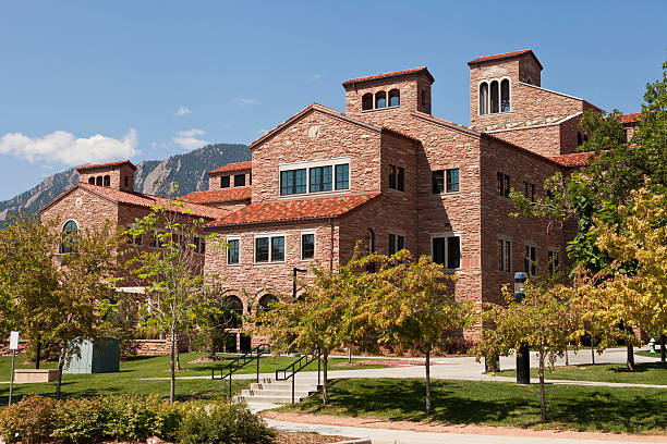 Boulder University, Colorado stock photo