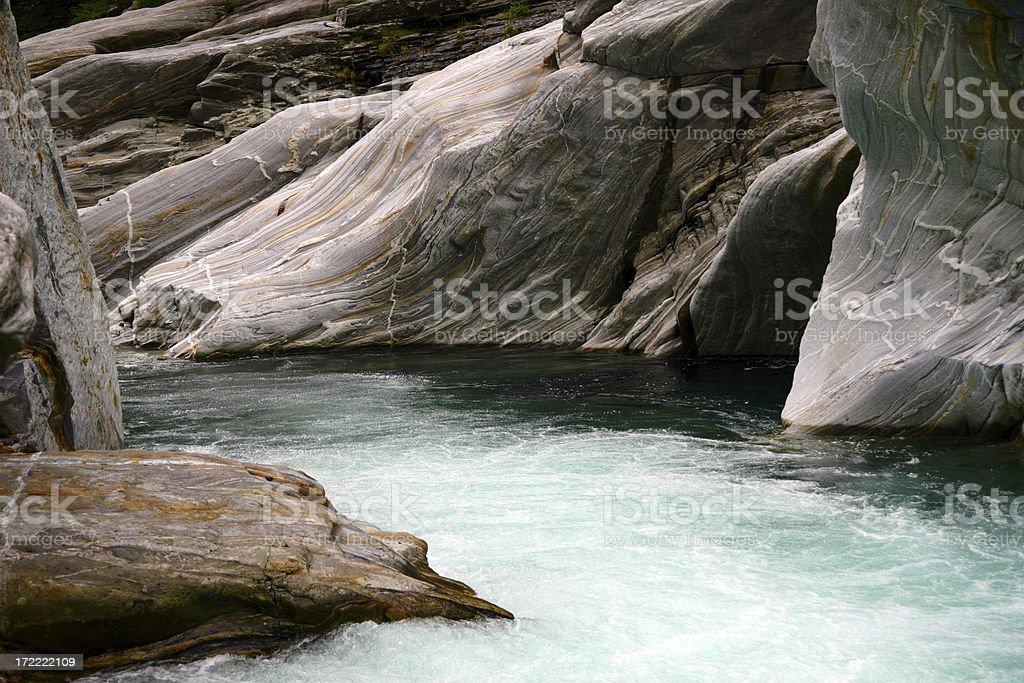 Boulder Verzasca River royalty-free stock photo