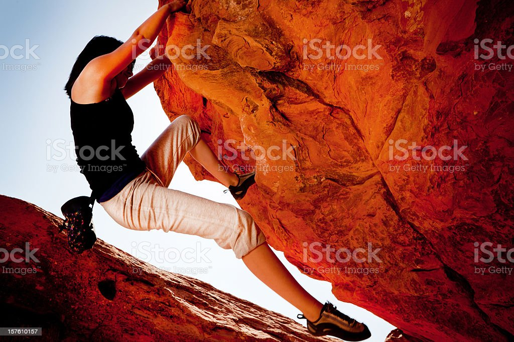 Bouldering in Utah stock photo