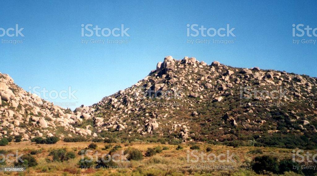 Rocas y paisaje del desierto de Baja California, México - foto de stock