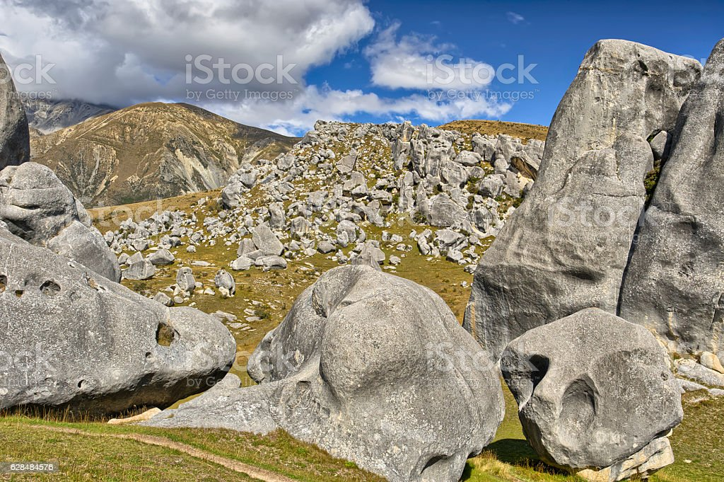 Boulders at Castle Hill stock photo