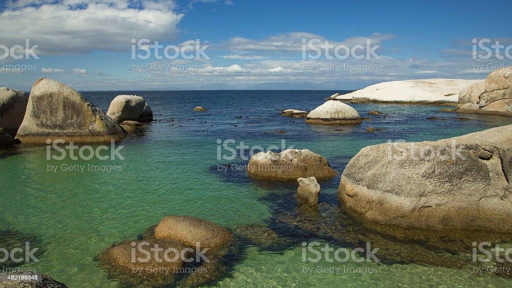 Boulders Beach ocean view stock photo