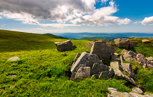 Boulders On Top Of Runa Mountain Stock Photo - Download Image Now