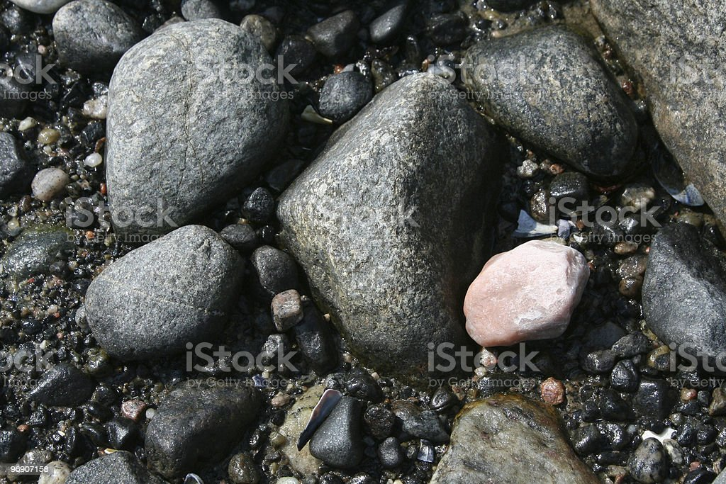 Boulders (Cailloux) royalty-free stock photo