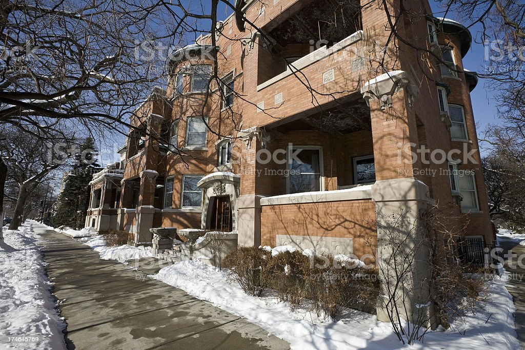 Boulevard Apartments in Chicago royalty-free stock photo