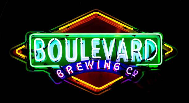 Boulevard Beer Brewing Company Neon Lights, USA stock photo