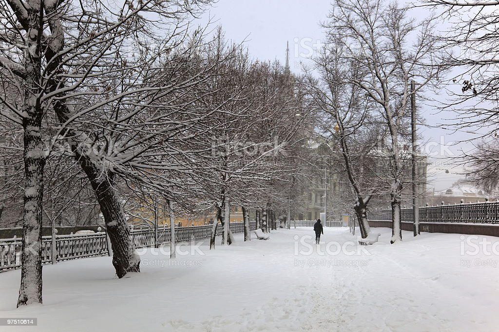 Boulevard in Moscow. Russia royalty-free stock photo