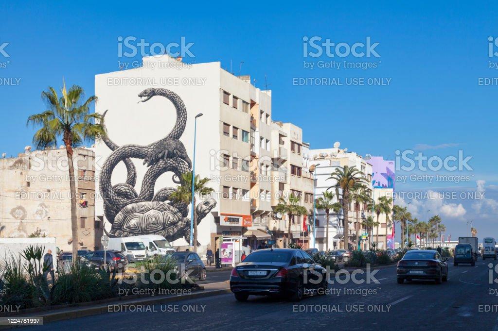 Boulevard Mohamed Zerktouni in Casablanca - Royalty-free Animal Themes Stock Photo