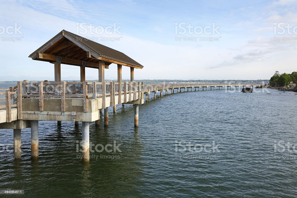 Boulevard Park Pier, Bellingham stock photo
