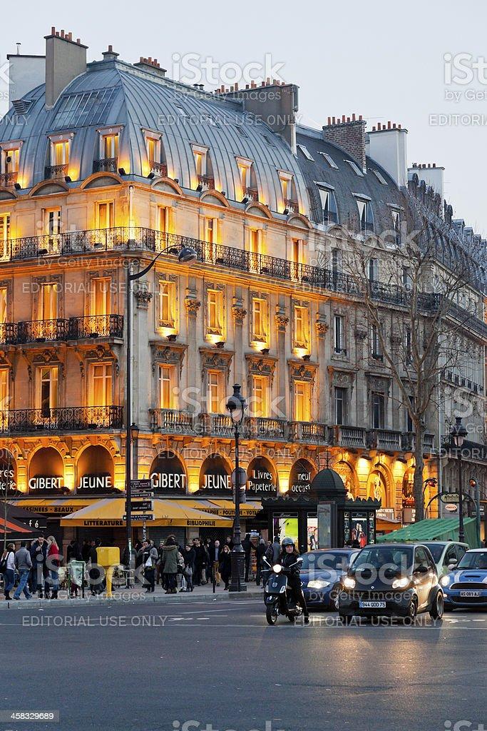 boulevard Saint Michel in Paris stock photo