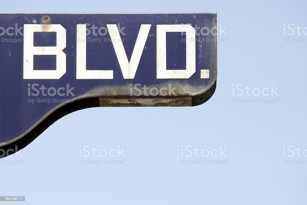 Boulevard Sign royalty-free stock photo