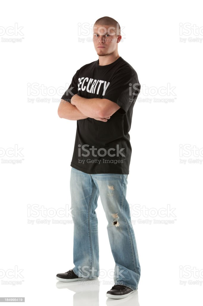 Bouncer stock photo