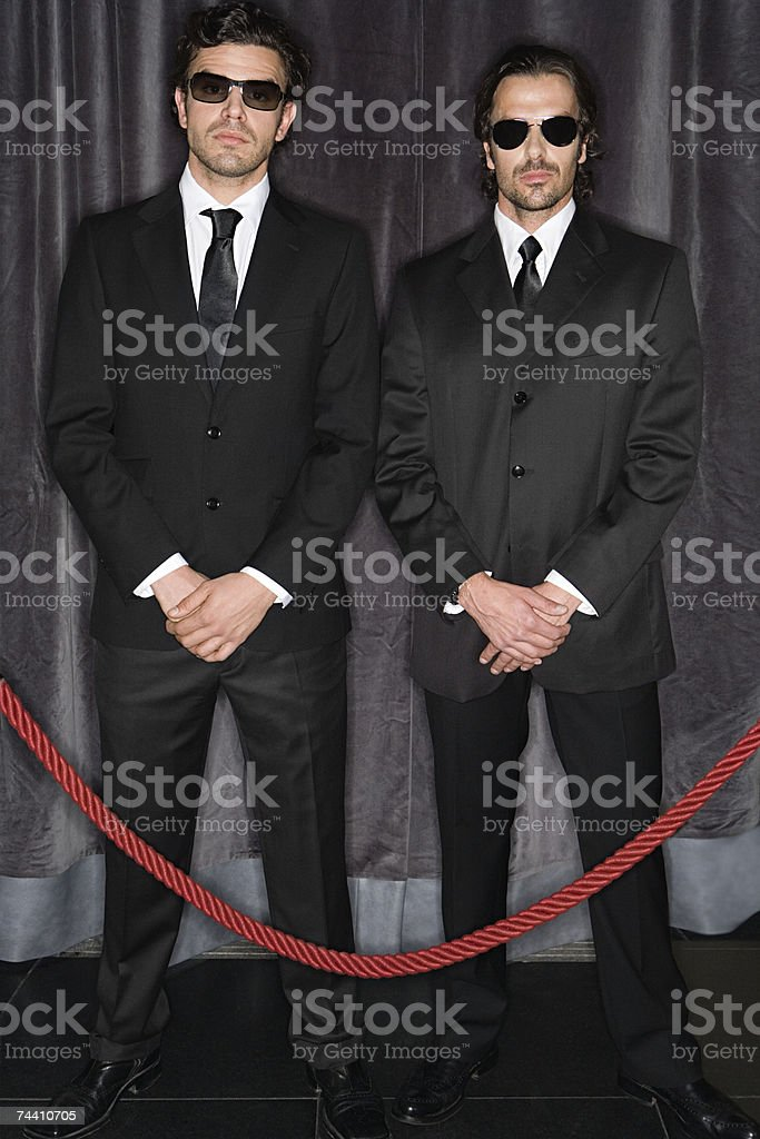 Bouncers stock photo