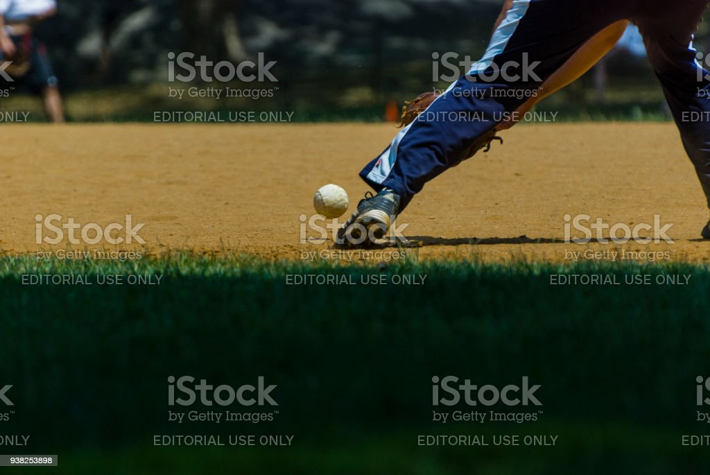 Bouncing ball stock photo
